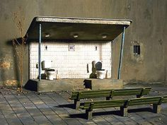 Open Air Toilet - Yea...let's have some fun watching people soil themselves....we need to have a standing ovation...