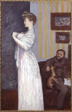 Thadée Natanson y Misia (Pierre Bonnard, circa Museo Reina Sofia, Madrid) Acrylic Painting Lessons, Watercolor Paintings Abstract, Watercolor Artists, Figure Painting, Abstract Oil, Painting Art, Pierre Bonnard, Marcel Proust, Renoir