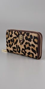 Tory Burch cheetah print wallet. Love.