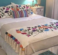 Guide To Discount Bedroom Furniture. Bedroom furnishings encompasses providing products such as chest of drawers, daybeds, fashion jewelry chests, headboards, highboys and night stands. Bedroom Furniture, Furniture Decor, Bedroom Decor, Draps Design, Bed Cover Design, Designer Bed Sheets, Embroidered Bedding, Bed Spreads, Diy Home Decor