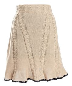 Look what I found on #zulily! Nick & Mo Natural Tanya Sweater Skirt by Nick & Mo #zulilyfinds