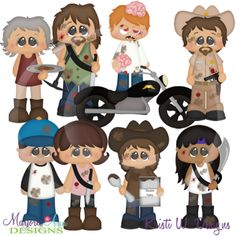 The Walking Cute SVG Cutting Files Includes Clipart