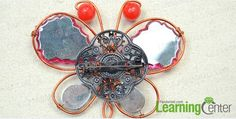 Wire Wrapping Jewelry Tutorial on Making a Vintage Butterfly Brooch with Beads - Pandahall.com