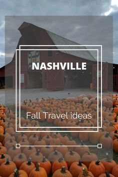 Fall travel ideas in and around Nashville Tennessee!