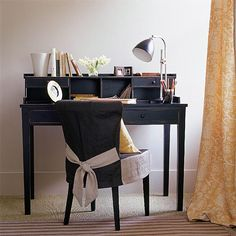 Striped home office | Home offices | Image | housetohome.co.uk