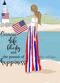 Celebrate life, liberty, and the pursuit of happiness. Heather Stillufsen Rose Hill Designs for Fourth of July
