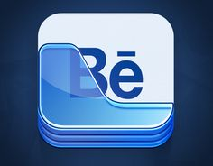 App icon design for Behance Creative Portfolio iOS app by Ramotion http://ramotion.com