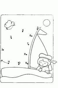 Combine figures and paint - Preschool Team Forum S .- rakamları birleştir ve boya – Önce Okul Öncesi Ekibi Forum Sitesi – Biz Bu … the numbers and paint – Preschool Team Forum Site – We Know This Job - Kindergarten Math Worksheets, Preschool Learning, Worksheets For Kids, Preschool Activities, Activities For Kids, Dot To Dot Puzzles, Happy Cartoon, Le Point, Dots