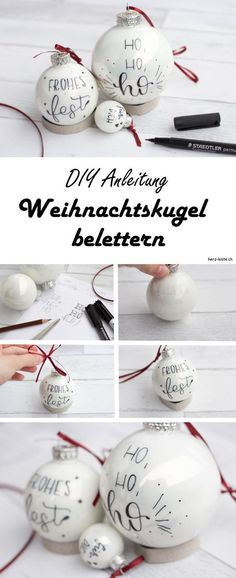 Letter Lovers: _jessiswelt zu Gast im Lettering Interview DIY instructions for Christmas: How to easily illuminate your Christmas balls. Thanks to hand lettering, your Christmas tree is definitely the most beautiful! A simple but effective DIY idea. Christmas Balls, Christmas Crafts, Christmas Decorations, Xmas, Christmas Ornaments, Diy Bullet Journal, Navidad Diy, Craft Gifts, Diy Art