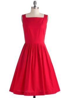 Remarkable without a Cause Dress. Who says bold hues and stunning silhouettes must be saved for formal occasions? #red #modcloth