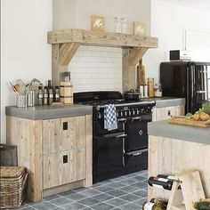 Kitchen with Barbecue: Projects and Photos - Home Fashion Trend Kitchen Dinning Room, Kitchen Time, Kitchen Units, Kitchen Living, Kitchen Decor, Kitchen Ideas, Modern Farmhouse Kitchens, Kitchen Styling, Kitchen Interior