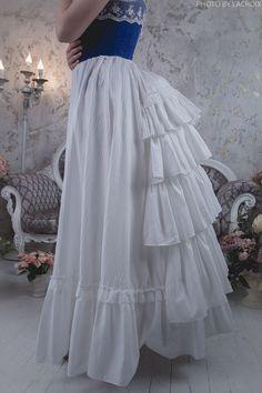 Petticoat victorian bustle skirt Steampunk undergarment