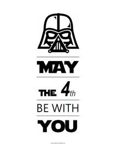 May the Be With You Free Printable - Printable Star Wars - Ideas of Printable Star Wars Star Wars Birthday, Star Wars Party, Star Wars Font, Star Wars Classroom, Star Wars Quotes, Star Wars Day Memes, Happy Star Wars Day, Printable Star, Star Wars Prints