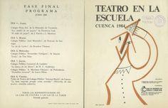 """""""Teatro en la Escuela"""" Cuenca 1984 Organizada por la Asociación de Amigos del Teatro de Cuenca y la Dirección Provincial del MEC  #Cuenca #TeatroInfantil"""