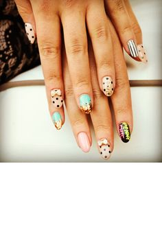 Spotted fantastic nail art!: 10 covetable manis on the streets of L.A @refinery29 #nailart