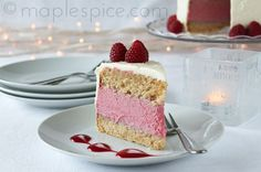 VEGAN Raspberry White Chocolate Mousse Cake. I will be making this with dark chocolate instead of white.