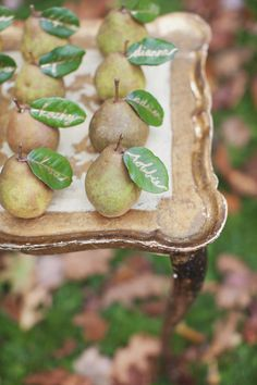 Pear Place Cards .
