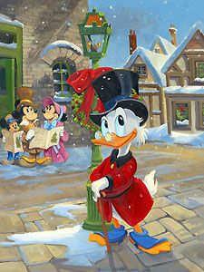 Mickey's Christmas Carol - A Change of Heart - Line Tutwiler - World-Wide-Art.com