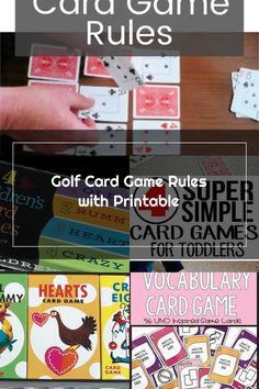 Golf Card Game, Card Games, Hearts Card Game, Game Info, Vocabulary, Confidence, Playing Cards, Parenting, Meet