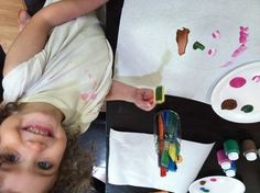 """Activities for the preschool theme """"I'm Unique!"""" *not sure why the picture is upside down..weird"""