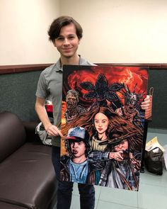 Chandler Riggs (With TWD & ST crossover fan art!)
