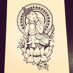 All done ✌ #art #artist #artistic #draw #drawing #design #sketch #pen #penandink #ink #tattoo #tattoos #tattooart #tattooidea #tattooflash #tattoodesign #tattoosketch #mandala #lotus #flower #buddha #sleeping #black #blackwork #line #lines #linework #dots #dotwork