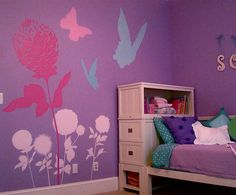 My daughter wants a purple room, I wonder if she'd like giant flowers