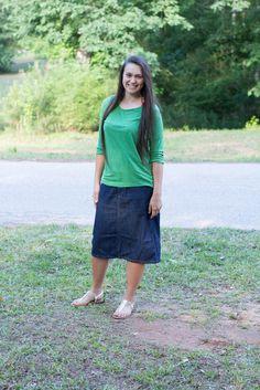 Virtue Straight Denim Skirt