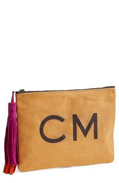iomoi tasseled monogram leather clutch available at #Nordstrom