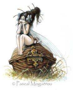 Pascal Moguerou: Fairies - Fée - Fee- Fe - Hadas - Fairy - 妖精 - älva - фея - keijukainen - परी - 요정 - 仙女 - fata - tylwyth teg -tündér