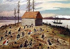 January 1856 – First Battle of Seattle. Marines from the USS Decatur drive off American Indian attackers after all day battle with settlers. Native Americans In California, Bozeman Trail, Humboldt Bay, Washington State History, Snoqualmie Falls, Rogue River, Native American Warrior, Today In History, Oregon Trail