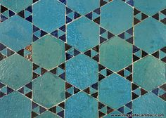 Konya - Sahip Ata camii mihrab detayı Moroccan Decor, Star Of David, Fashion History, Islam, Tiles, Ceramics, Pattern, Teal, Turquoise