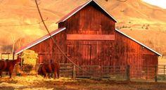 old red barns | old red barn | BARNS | Pinterest