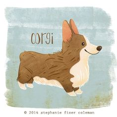 I'm doing a little project this year where I draw a dog each week.  This week's was a Corgi :)