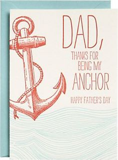 Letterpress Anchor Father's Day Card..maybe recreate for a birthday card!