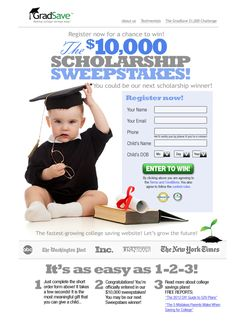 Did you hear about the GradSave $10,000 Scholarship Sweepstakes