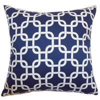 Barque Pillow in Blue and White from Joss and Main.