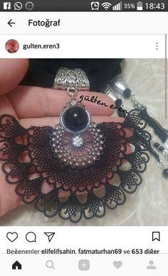 Needle Lace, Moda Emo, Piercings, Crochet Projects, Crochet Earrings, Fancy, Jewelry, Lace, Necklaces