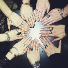 WHOSE HANDS? Visit our Facebook page to find out which jewelry giants we witched out with this weekend...