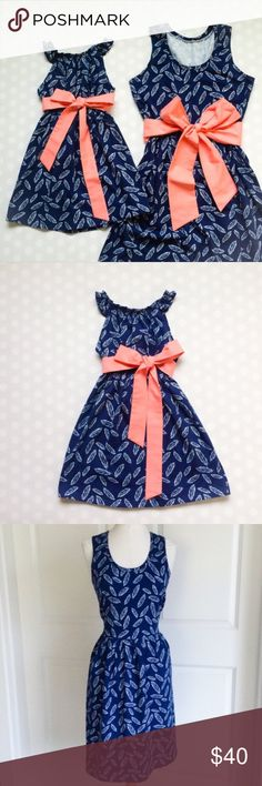 Mommy and Me Blue Dress Mommy dress    ❤️ size XL but it's stretchy so you can do one size up  ❤️brand new never used ribbon comes with ribbon and is optional can be detached and attached  Measurements: Bust 38.5 in, Waist 31.5in, and Length 33.5cm  Daughter dress   ❤️brand new never used   ❤️size 2-4T   ❤️also comes with attachable and detachable ribbon Measurements: Bust 22in, Waist: 22.8 in, Length 20 in Dresses Midi