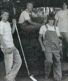 Eric, Marc, Jordan and Jared Staal on the farm...