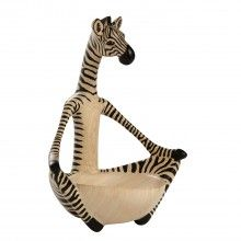 Skilled woodcarvers in Kenya transform blocks of jacaranda wood into fun animal figures. Sitting in a meditation pose, this unique bowl is the perfect place to put jewelry or other small items for safekeeping. Jacaranda wood is a sustainable, fast-growin Wood Bowls, White Clay, Hand Carved, Carved Wood, Decorative Accessories, Perfect Place, Giraffe, Decorative Bowls, Carving