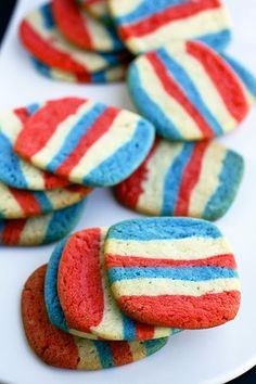 So, who else is going to make these for Fourth of July? I can hardly wait to try them.    Berry Raspberry Icebox Cookies from The Cooking Photographer