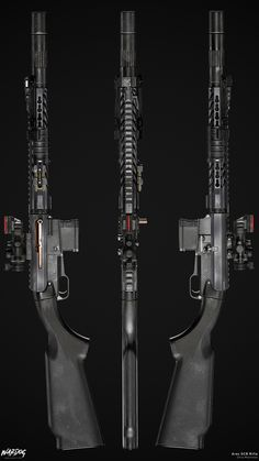 My new piece based on the Ares SCR rifle! I tried this time to go with a bit cleaner materials, but at some places I couldn't resist! Zombie Weapons, Sci Fi Weapons, Concept Weapons, Weapons Guns, Tactical Truck, Tactical Gear, Ajin Anime, Long Rifle, Future Weapons