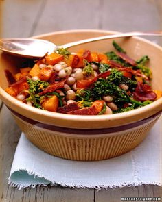 Cranberry Bean Salad with Butternut Squash and Broccoli Rabe - Martha Stewart Recipes