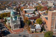 """""""Where we love is home - home that our feet may leave, but not our hearts.""""      ~ Oliver Wendell Holmes~        Aerial photos capture the spirit of VCU and the city of Richmond.    -Photo by Allen Jones, VCU Creative Services"""