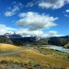 The entrance to El Chalten village and the road leading to it are stunning