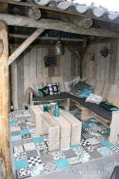 Cement tiles Patchwork! - Patchwork Blue Tone - Project van Designtegels.nl