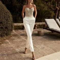 skyfely Collar Designs, Latest Fashion Clothes, Jumpsuits For Women, Fashion Jumpsuits, Jumpsuits For Weddings, A Line Skirts, Strapless Dress Formal, Formal Dresses, Wedding Dresses