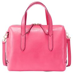 Fossil Sydney Leather Satchel at johnlewis.com £139 Pink Bags, Leather Satchel, John Lewis, Fossil, Sydney, Cases, Stuff To Buy, Pink Handbags, Leather Briefcase